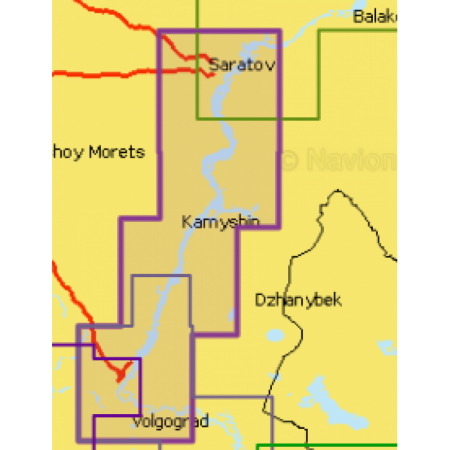 Карта глубин - Саратов - Волгоград