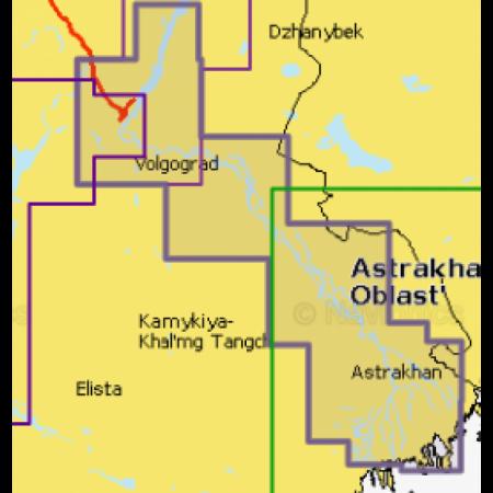 Карта глубин - Волгоград - Астрахань