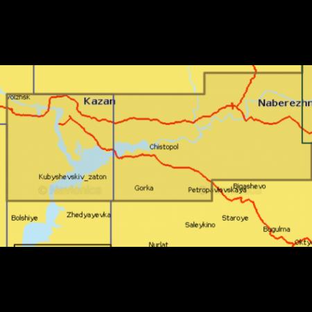 Карта глубин - Река Белая и нижняя Кама