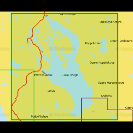Карта глубин - Онежское озеро